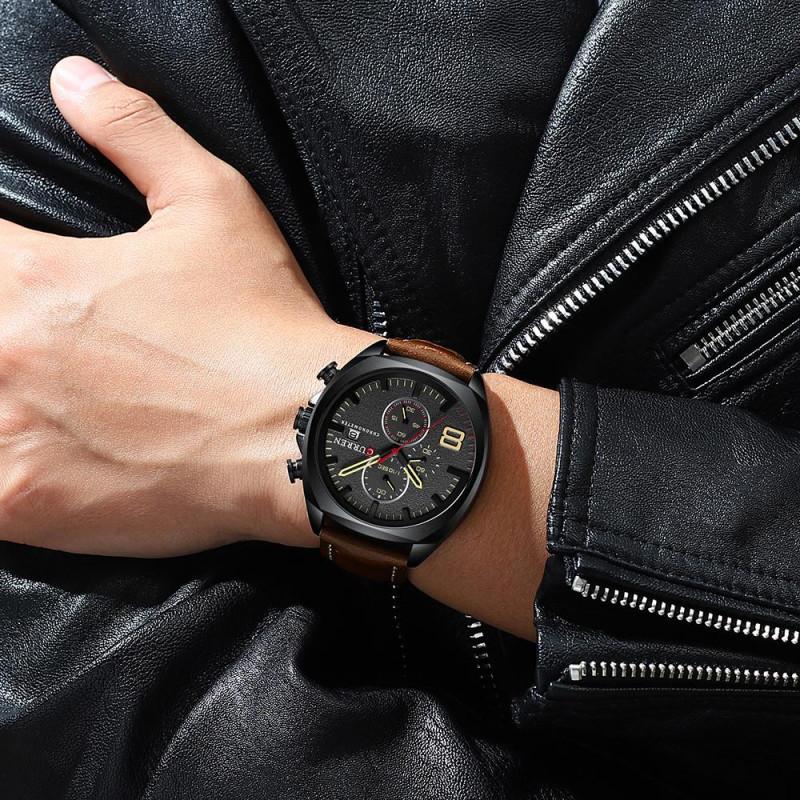 Новинка мужских часов.  Curren C-8324 brown black