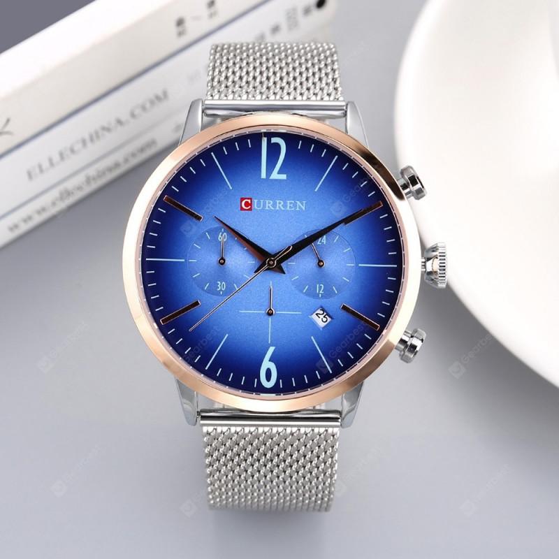 Мужские часы Curren 8313 Silver Blue
