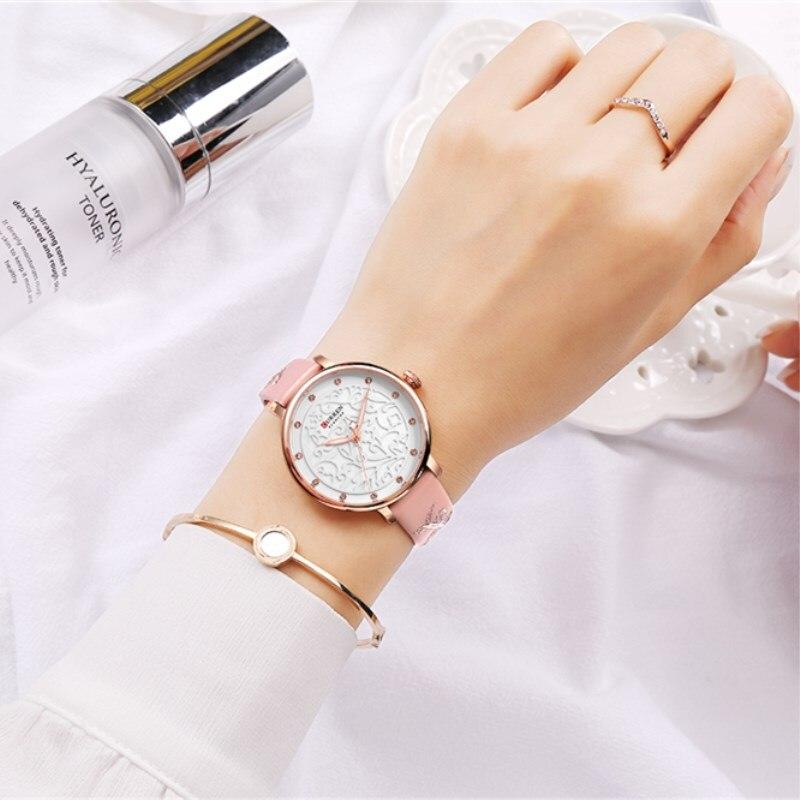 Женские модные часы Curren 9046