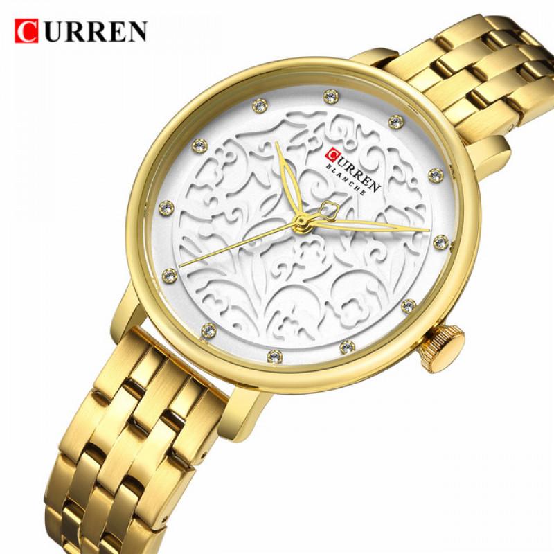 Женские модные часы Curren 9046 Gold