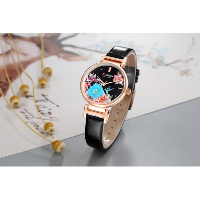 Женские классические часы Curren 9053 Black