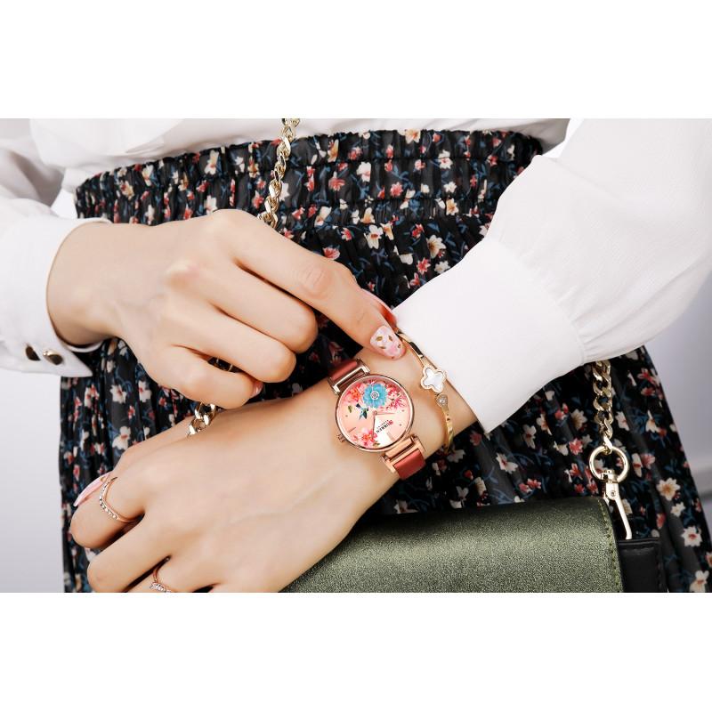 Женские классические часы Curren 9053 Red