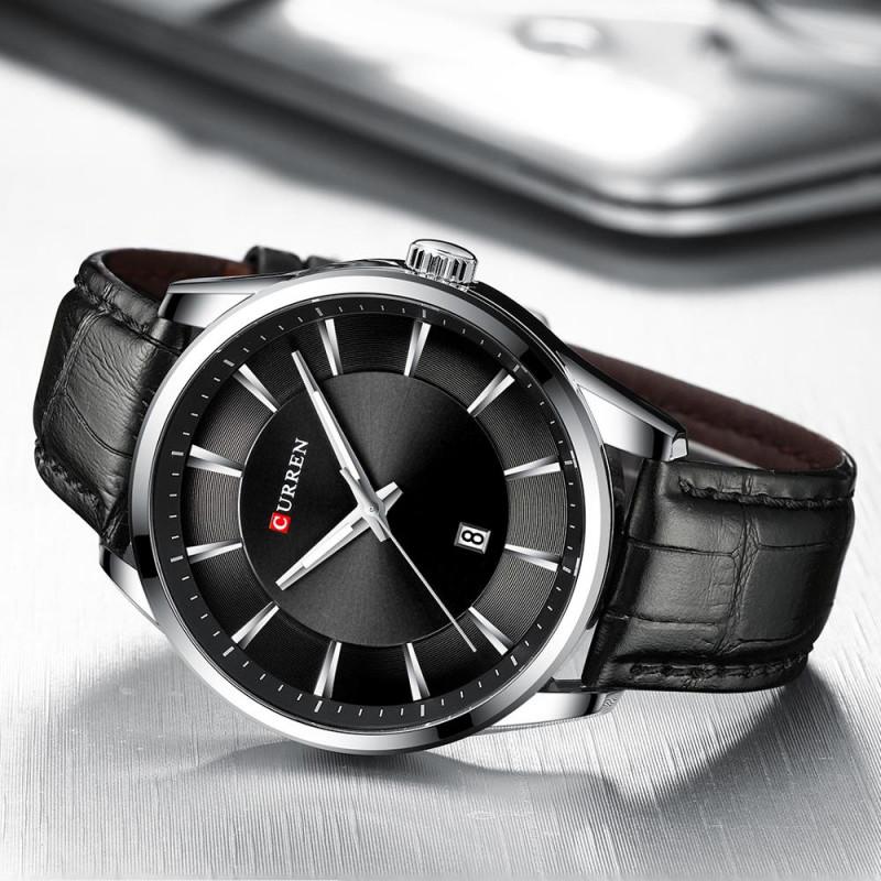 Мужские классические часы Curren 8365 Black