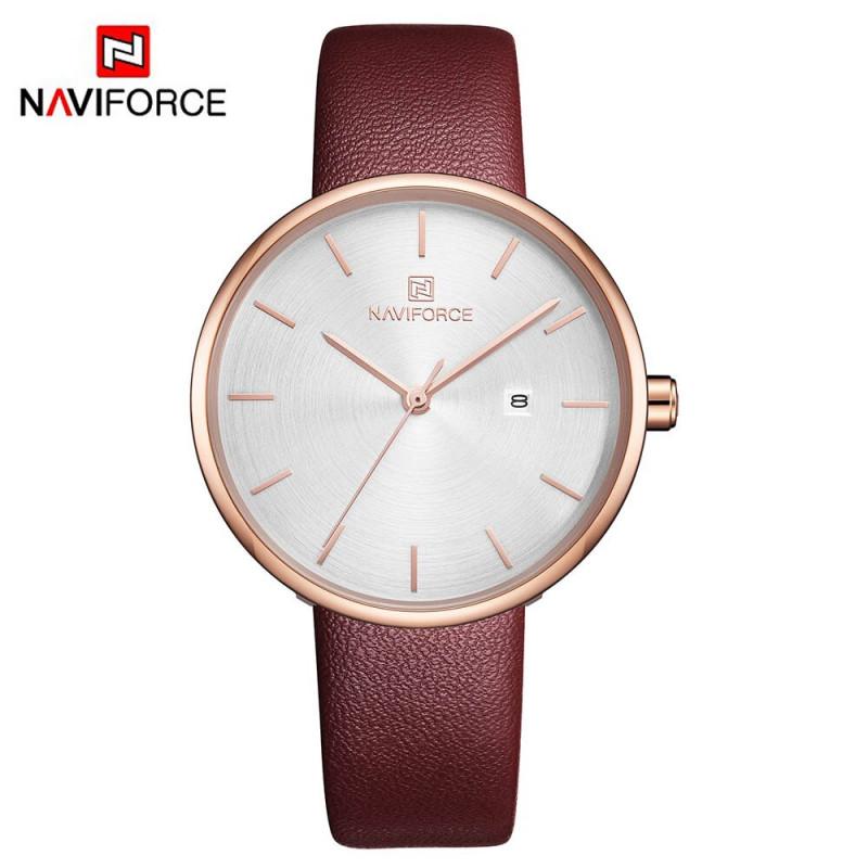 Женские классические часы Naviforce 5002 красный