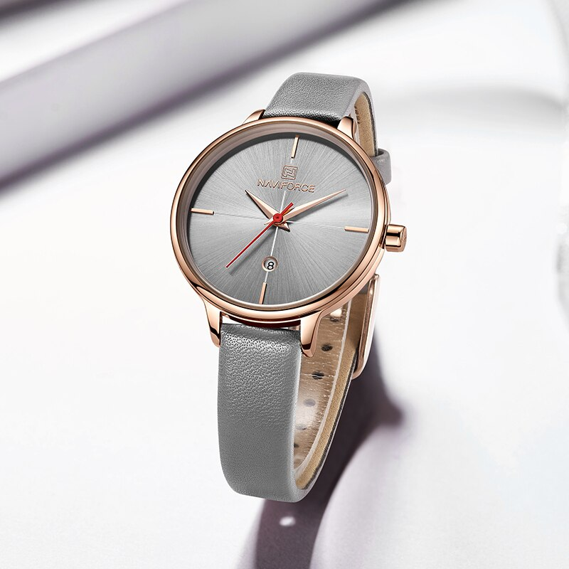 Женские классические часы Naviforce 5006 серый