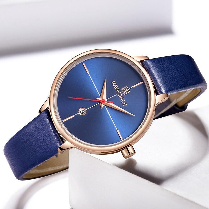 Женские классические часы Naviforce 5006 синий