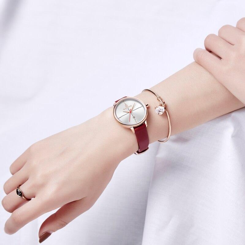 Женские классические часы Naviforce 5006 красный