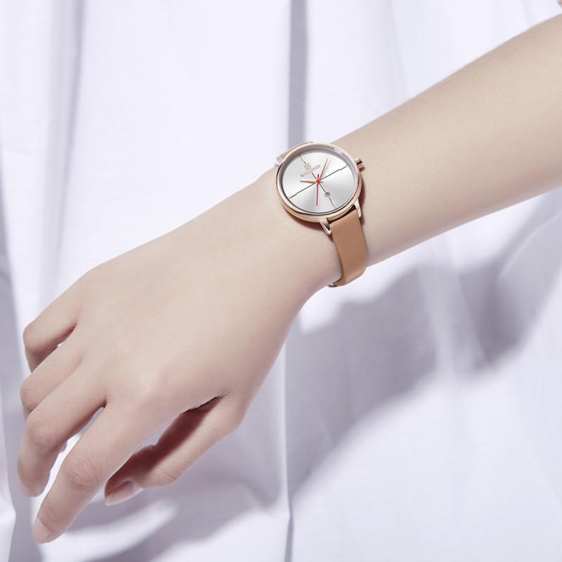 Женские классические часы Naviforce 5006 коричневый