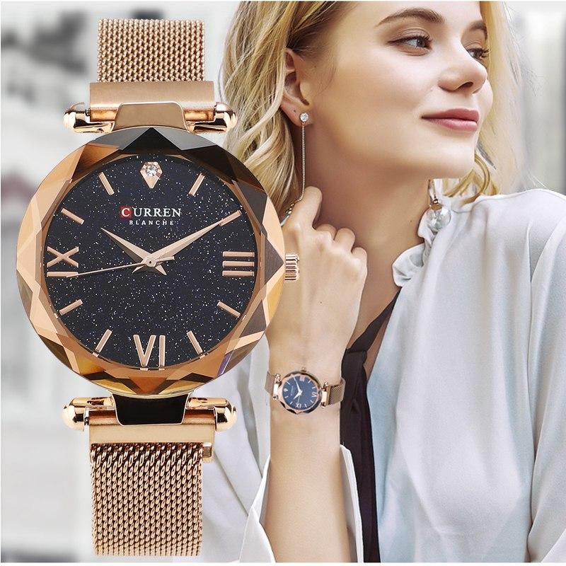 Женские часы Curren 9063 gold