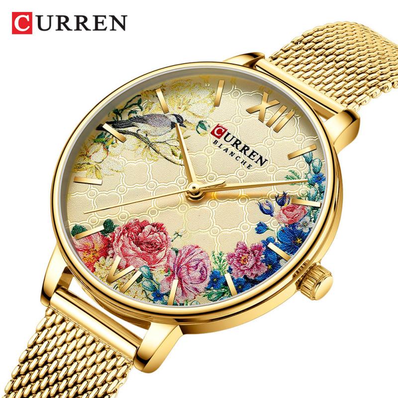 Женские часы Curren 9059 золотистый