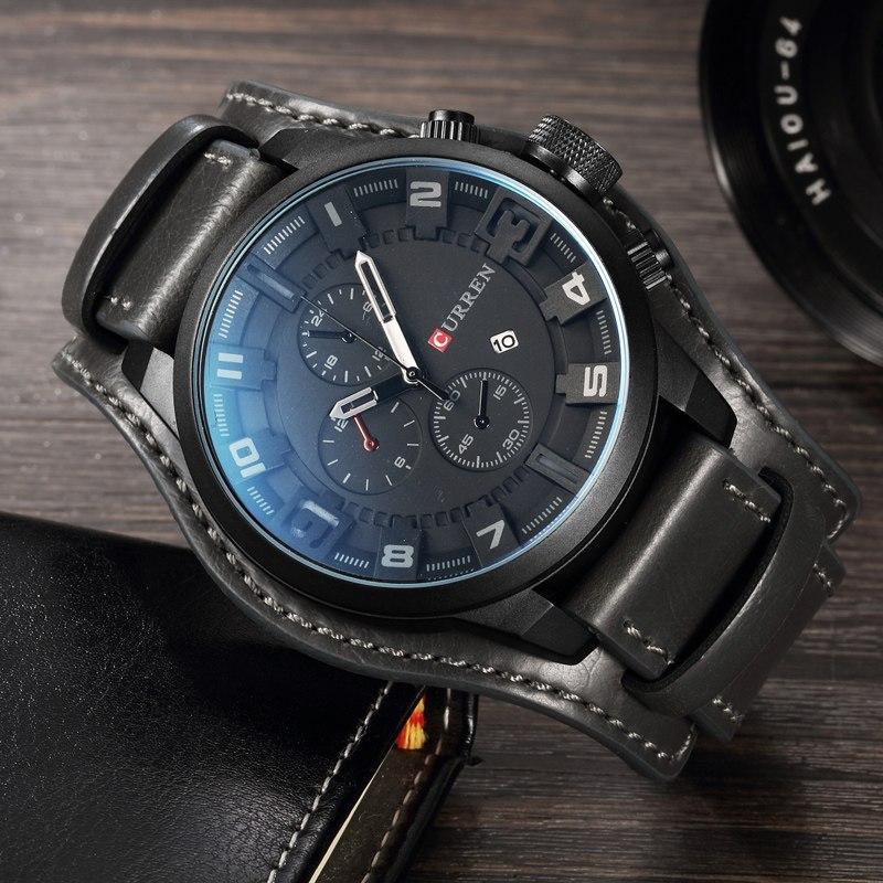 Армейские наручные часы Curren 8225 тёмно - серый