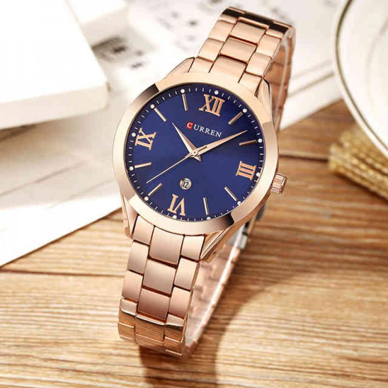 Женские часы Curren 9007 - gold blue