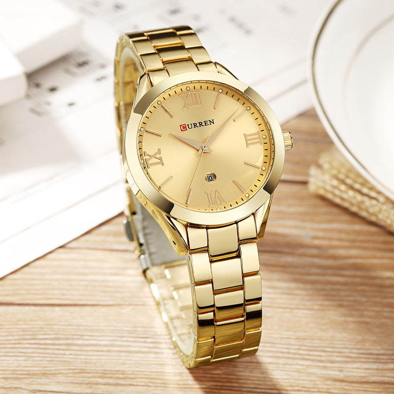 Женские часы Curren 9007 - золотистый