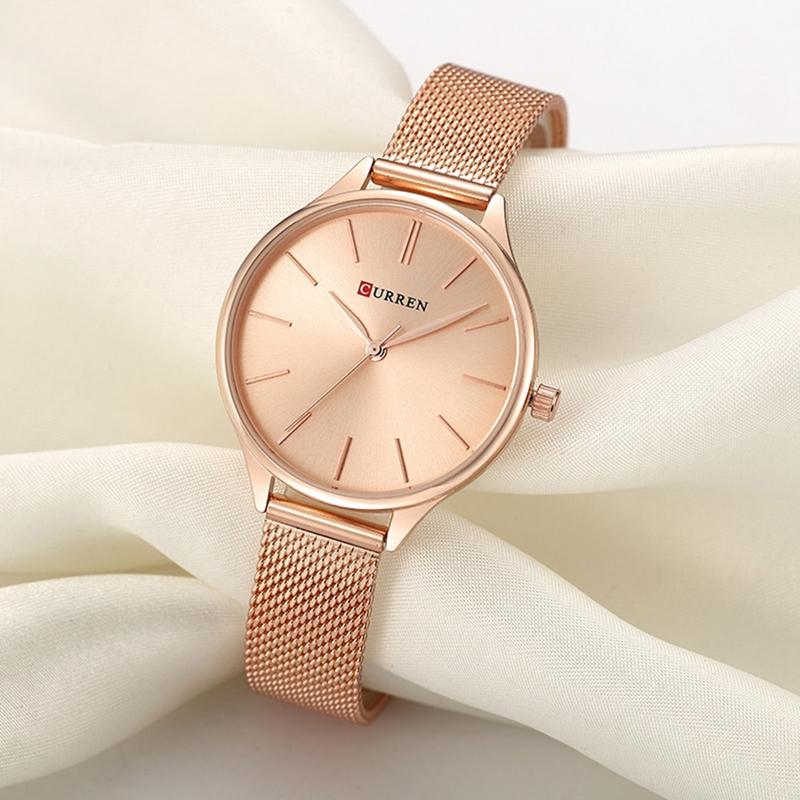 Женские часы Curren 9024 - розовое золото