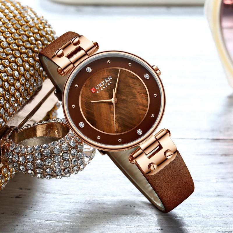 Женские часы Curren 9056 LCE Coffee