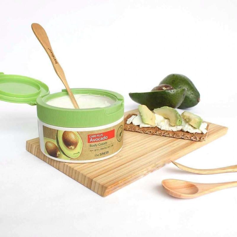 Питательный крем для тела с экстрактом авокадо The Saem Care Plus Avocado Body Cream 300 мл
