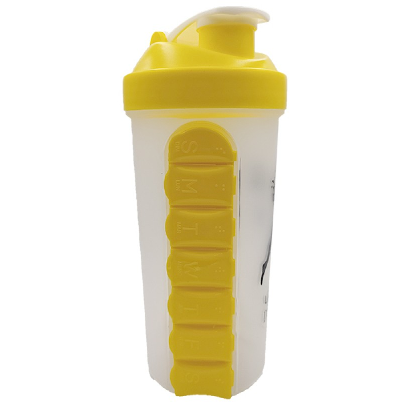 Шейкер для спортивного питания Don't Stop с капсулой 600 мл - жёлтый