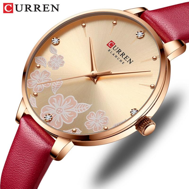 Женские часы Curren 9068. Красный