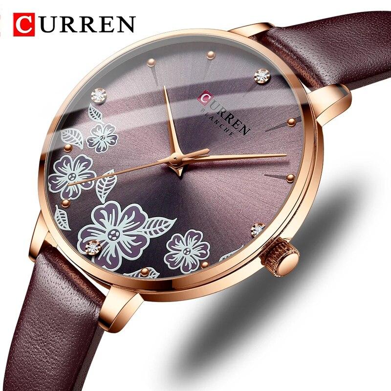 Женские часы Curren 9068. Бордовый