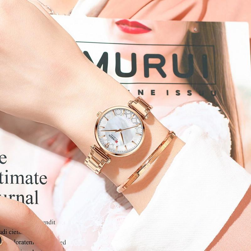 Женские часы Curren 9072. Розовое золото