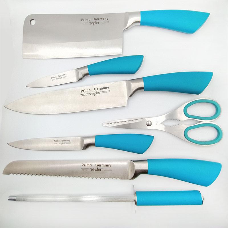 Набор керамических ножей 7 шт. Синий