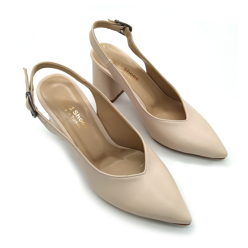 Женские туфли Pasa shoes 0L66. Молочные