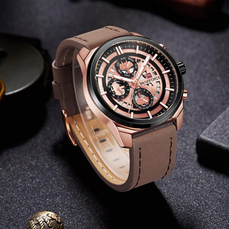 Брутальные мужские часы Naviforce 9129 BB