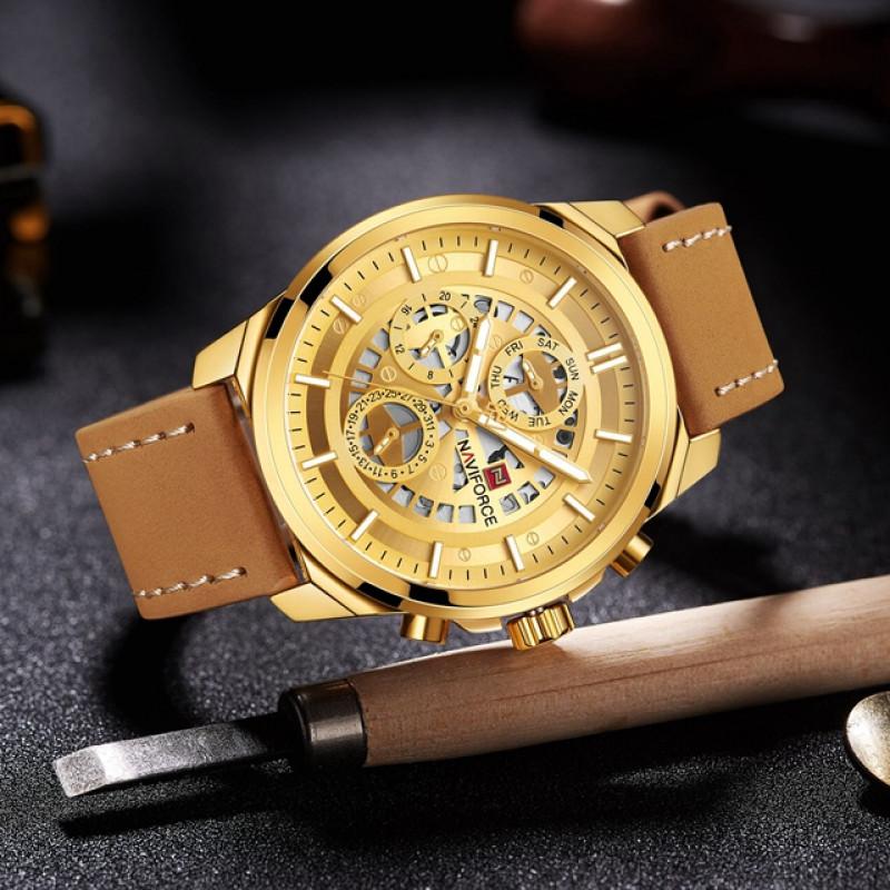 Брутальные мужские часы Naviforce 9129 GB