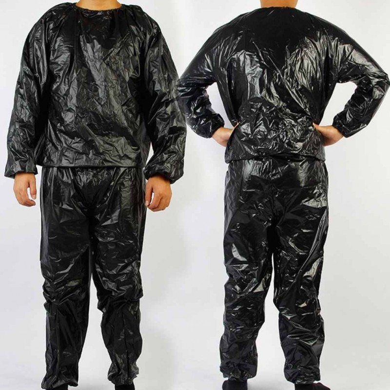 Костюм-сауна Термический спортивный костюм -сауна, чёрный