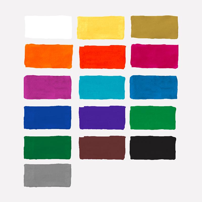 """Гуашь Мульти-Пульти """"Енот в Греции"""", 16 цветов, 17,5мл, картон"""