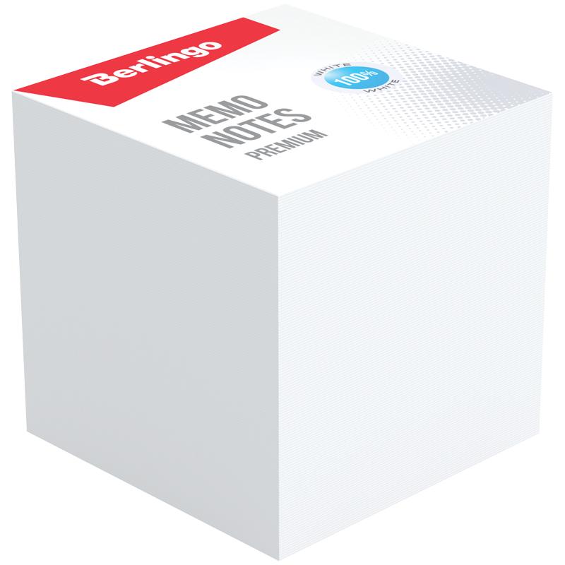 """Блок для записи Berlingo """"Premium"""", 9*9*9, белый, 100% белизна"""